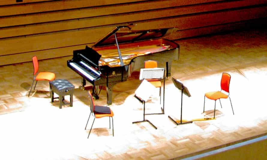 Richard Snell's Opus musician's chair on stage at Birmingham University