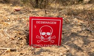 A landmine found by the all-female team.