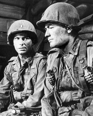Rip Torn and Gregory Peck in the gritty Korean war film.