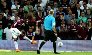 Jonathan Kodjia of Aston Villa scores an equaliser.