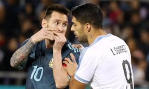 Lionel Messi and Luis Suárez