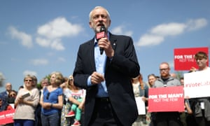 Jeremy Corbyn speaks to supporters during a campaign rally in Garforth, England.