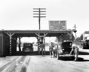 Visitors to the town were searched at the entrance gates.