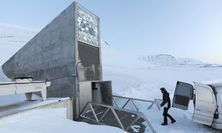 The entrance to the Svalbard global seed vault in northern Norway
