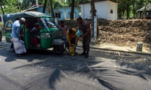 Bangladesh border patrol search for drugs at a checkpoint along the Teknaf-Cox's Bazar highway.