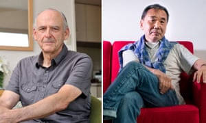 'I drove him absolutely crazy for a whole day giving him little questions one after ano­ther' … Jay Rubin, left, on Haruki Murakami