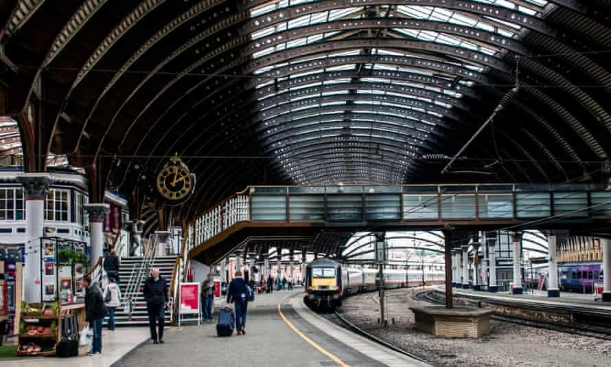 York railway train station departure yorkshire england