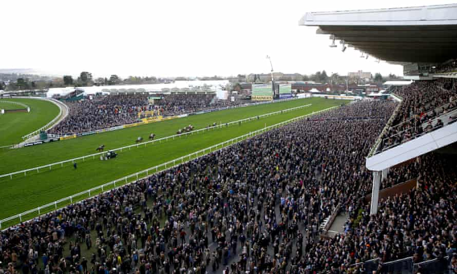 Crowded stands at the Cheltenham Festival on 13 March, 10 days before the lockdown began.