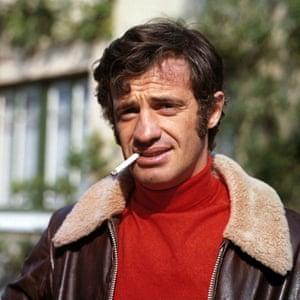 Jean-Paul Belmondo as Azad in the Athens based heist movie The Burglars, 1971