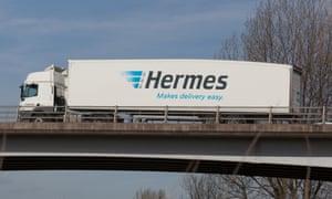 A Hermes lorry