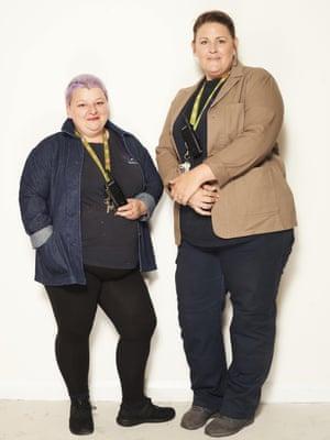 Sophie Curtin 42; and Rebecca Barton, 42; both work at Blackburn with Darwen CouncilIndigo jacket, £89, and khaki jacket, £109
