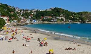 Guaratiba Beach in Rio de Janeiro, Brazil.