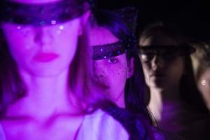 Models wait backstage at Milan Fashion Week