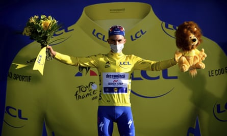 France's Julian Alaphilippe recaptured the yellow jersey of Tour leadership that he wore for much of last year's race.