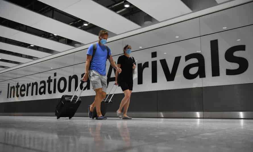 People arriving at Heathrow Airport