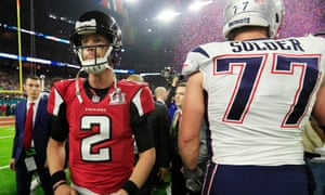 Matt Ryan contemplates a cruel defeat to the Patriots