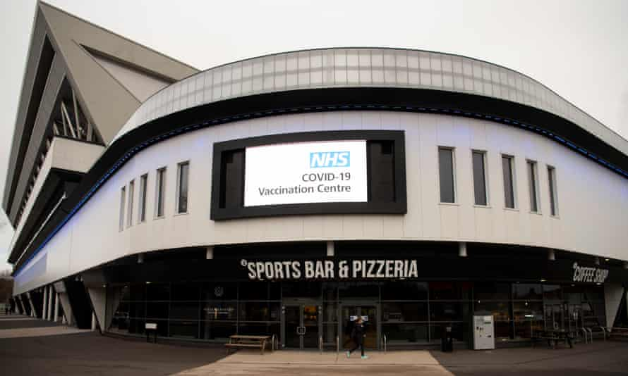 Bristol's Ashton Gate Stadium has been turned into a Covid-19 mass vaccination centre