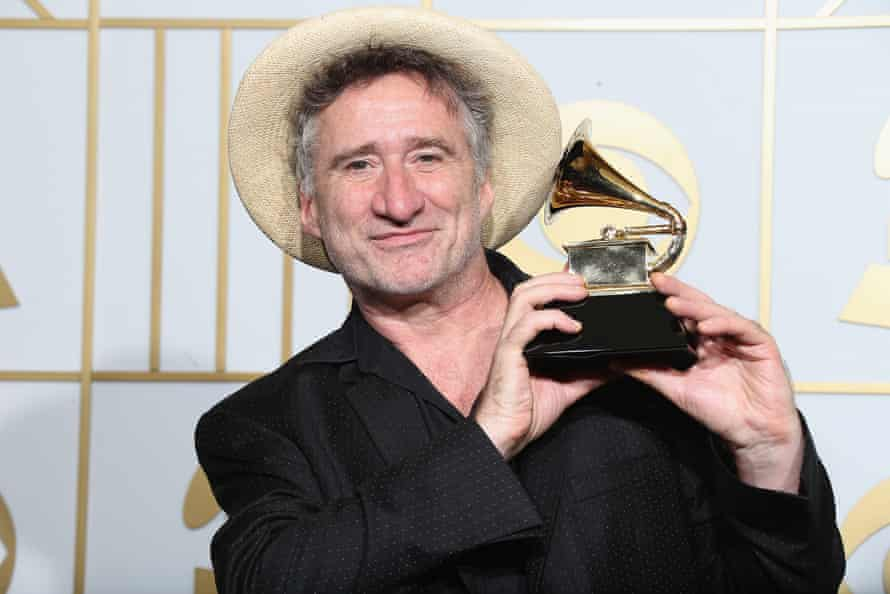 Cleary posing with his Grammy.