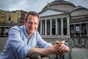 Alexander Armstrong in the Piazza del Plebiscito, Naples