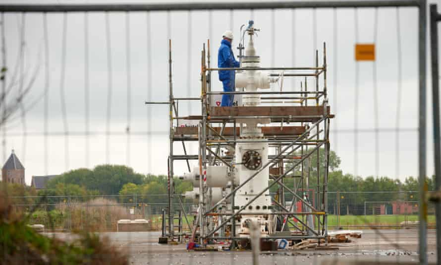A NAM gas drilling site in Groningen.