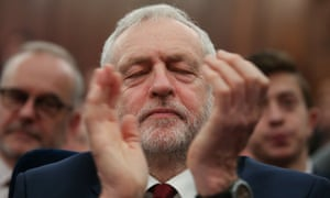 Jeremy Corbyn before delivering a speech about Labour's vision for a post-Brexit Britain last week.