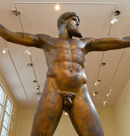 Size mystery … the ancient Greek statue called the Artemision Bronze.