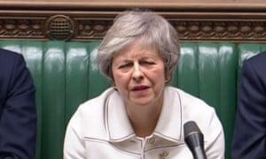 Theresa May in parliament.