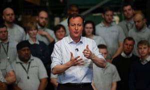 David Cameron lays out his party's pledge on taxation during a visit to an engineering factory in Birmingham.