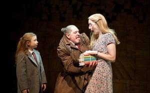 Bertie Carvel plays the monstrous Miss Trunchbull, centre, in the RSC's musical adaptation of Roald Dahl's supernatural schoolgirl story Matilda.