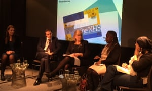 Polly Toynbee and our panellists at the This Is the NHS Guardian event