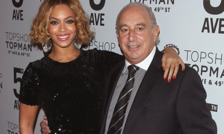 Beyoncé Knowles and Philip Green in 2014.
