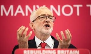 Jeremy Corbyn speaking in Corby.