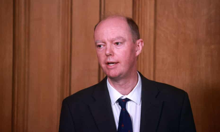 Prof Chris Whitty during a media briefing on 5 January 2021.