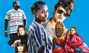 (L-R) Paper Boi in Atlanta; French and Saunders; Issa Rae in Insecure; Nathan Barley; Titus in Unbreakable Kimmy Schmidt