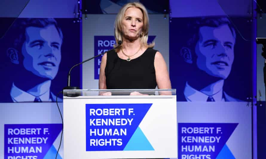 Kerry Kennedy speaks at the Ripple of Hope awards dinner in New York on 13 December 2017.
