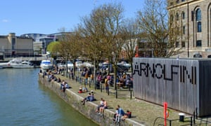 The Arnolfini gallery on Bristol waterfront.