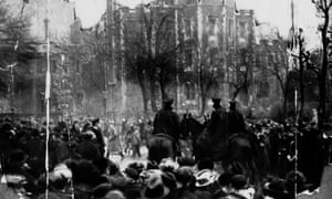 Crowds gathered outside Holloway on the day Edith Thompson was hanged in 1923 for the murder of her husband, Percy.