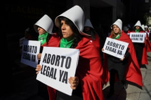 Women campaign for the legalisation of abortion, in Buenos Aires, Argentina