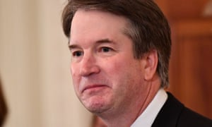 US-POLITICS-JUSTICE-TRUMP<br>Supreme Court nominee Brett Kavanaugh in the East Room of the White House on July 9, 2018 in Washington, DC. / AFP PHOTO / MANDEL NGANMANDEL NGAN/AFP/Getty Images