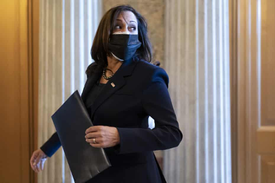 Kamala Harris heads into the Senate chamber for a procedural vote in December. The Senate may continue to occupy her time as vice-president.