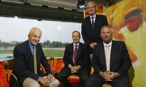 The Sky commentary team with, from left: David Gower, Nasser Hussain, Bob Willis and Ian Botham in 2004.