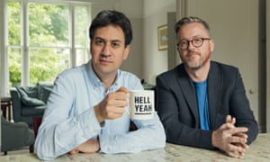 Ed Miliband with his Reasons to be Cheerful podcast co-host, Geoff Lloyd.