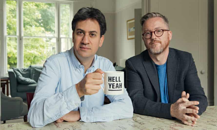 Ed Miliband and Geoff Lloyd