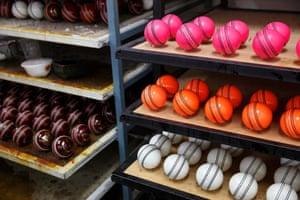 Freshly polished balls
