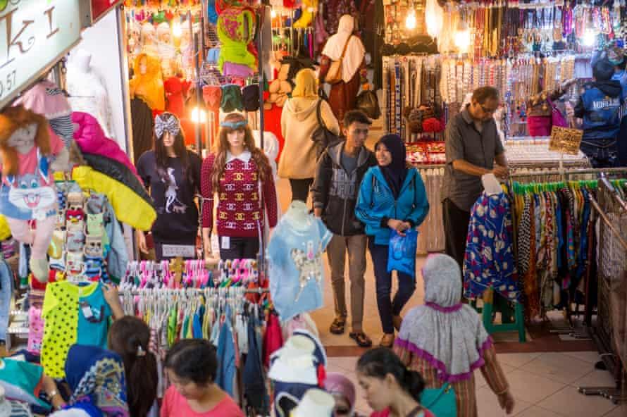 Shoppers in Jakarta