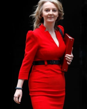 Liz Truss photographed outside Downing Street in March.