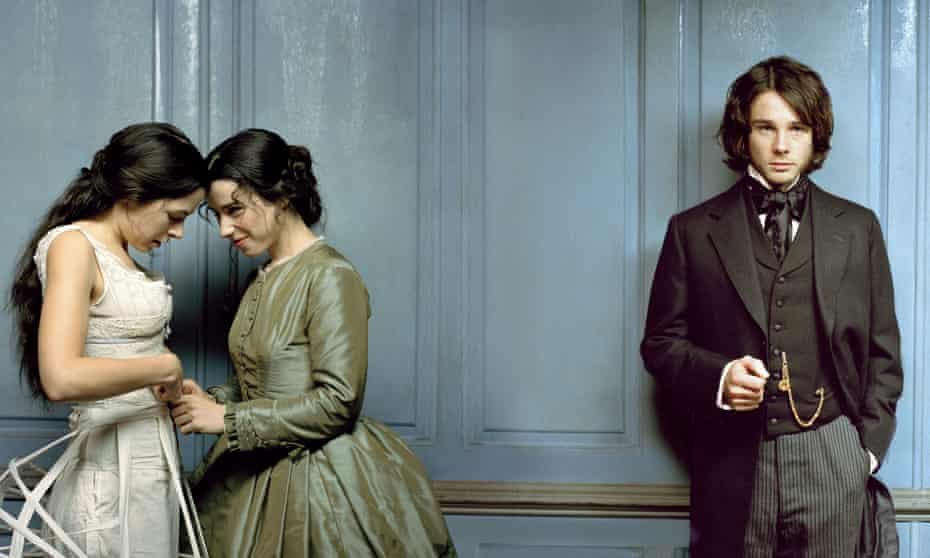 Breathless … Elaine Cassidy, Sally Hawkins and Rupert Evans in the 2005 BBC TV adaptation, Fingersmith