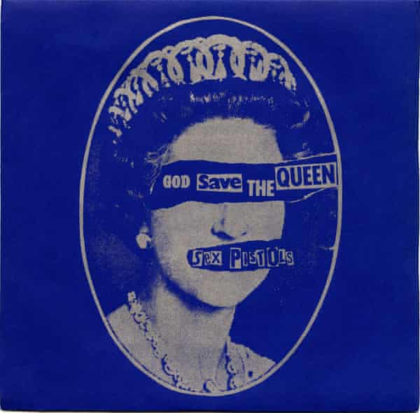 'God Save the Queen' single by The Sex Pistols, a punk rock record first released in 1977