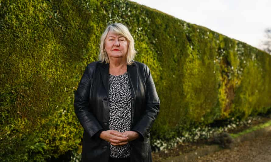Ellen Waldren, co-founder of Frontline 19, a service linking NHS staff with therapists, standing against a green hedge