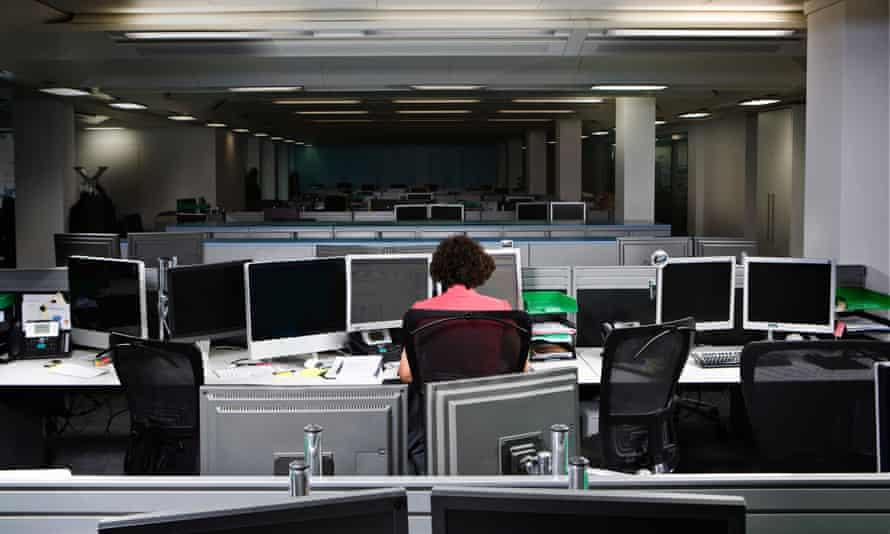 A worker in an office